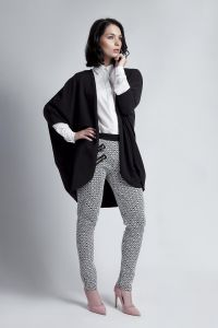 Batwing Black Cardigan With 3/4 Sleeves